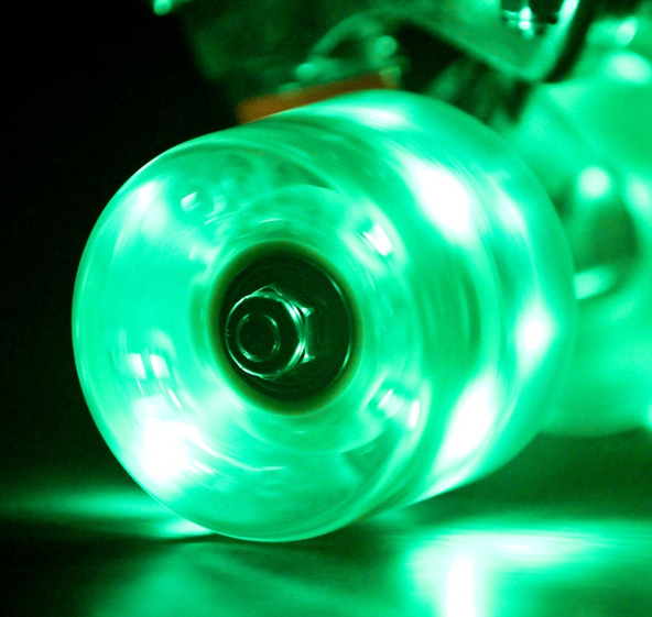sunset LED light longboard wheels